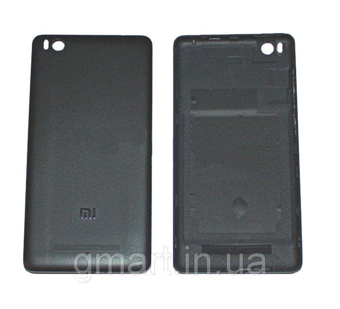 Задняя крышка корпуса Xiaomi Mi4i черная, Задня кришка корпусу Xiaomi Mi4i чорна