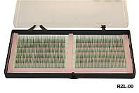 Ресницы одинарные на зеленой ленте 0,15-12мм