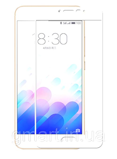Защитное стекло дисплея Meizu M3 Note белое (0.3 мм, 2.5D), Захисне скло дисплея Meizu M3 Note біле (0.3 мм, 2.5D)