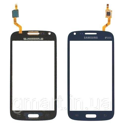Сенсорный экран Samsung I8262 Galaxy Core Duos синий (тачскрин, стекло в сборе), Сенсорний екран Samsung I8262 Galaxy Core Duos синій (тачскрін, скло