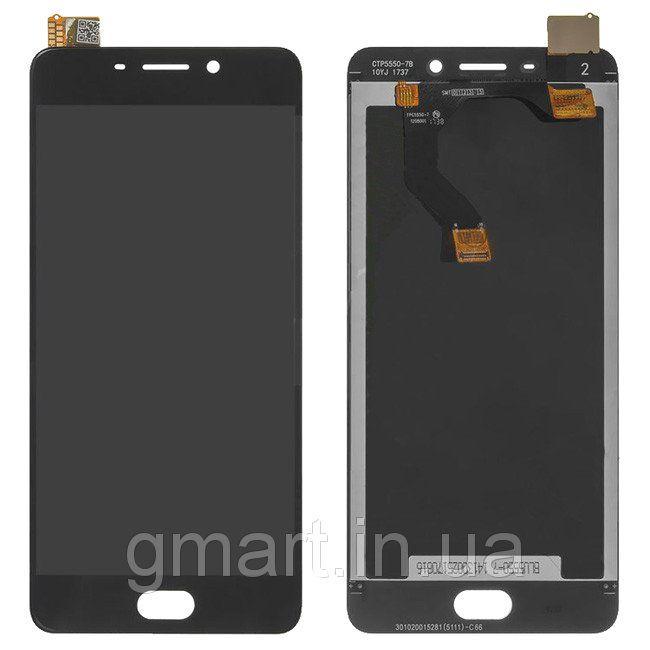 Дисплей Meizu M6 Note черный (LCD экран, тачскрин, стекло в сборе), Дисплей Meizu M6 Note чорний (LCD екран, тачскрін, скло в зборі)