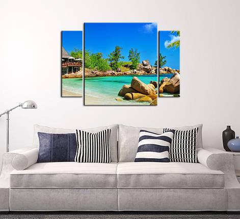"""Модульная картина """"Райский остров"""", фото 2"""