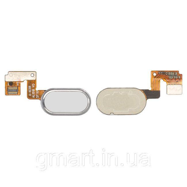 """Кнопка """"Home"""" Meizu M3 Note (L681H), 14pin белая со шлейфом (кнопка меню/назад), Кнопка """"Home"""" Meizu M3 Note (L681H), 14pin біла зі шлейфом (кнопка"""