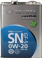TOYOTA MOTOR OIL SN/GF-5 0W20 4л.