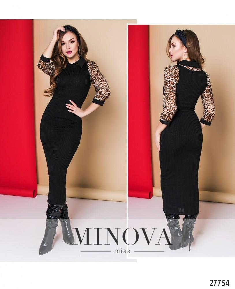 Маленькое черное женское платье №1288-черный