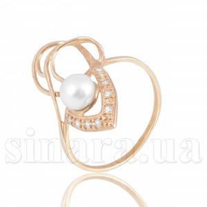 Золотое кольцо с жемчугом 6168