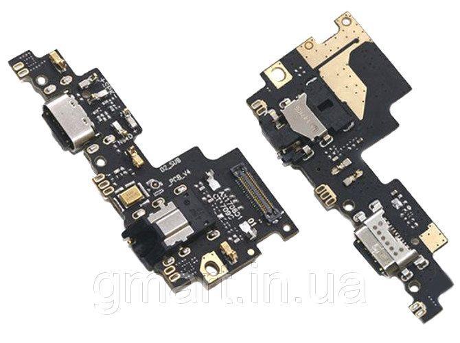 Порт зарядки и синхронизации Xiaomi Mi A1/ Mi5X со шлейфом и микрофоном, Порт зарядки і синхронізації Xiaomi Mi A1 / Mi5X зі шлейфом і мікрофоном