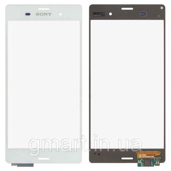 Сенсорный экран Sony D6603 Xperia Z3 белый (тачскрин, стекло в сборе), Сенсорний екран Sony D6603 Xperia Z3 білий (тачскрін, скло в зборі)