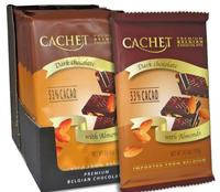 Шоколад Cachet dark chocolate with Almonds 53% cacao 300г