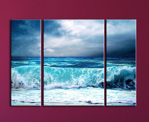 """Модульная картина """"Прибой"""", фото 2"""