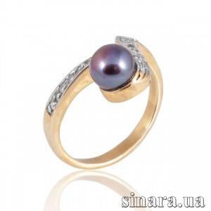 Золотое кольцо с жемчугом 6170