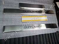 Накладки на пороги Mitsubishi OUTLANDER II/XL с 2006 г. (Standart)