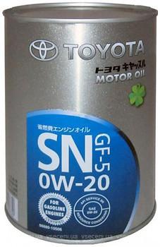 Моторне масло TOYOTA MOTOR OIL SN/GF-5 0W20 1л.
