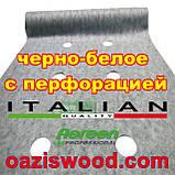 Агроволокно p-50g отверстия 3 в ряд 1.6*100м черно-белое Agreen итальянское качество с перфорацией, фото 6