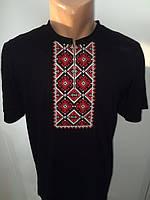 Мужская вышиванка машинная вышивка крестиком,
