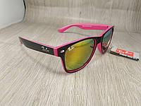 Солнцезащитные очки Ray Ban Wayfarer - розовые зеркальные