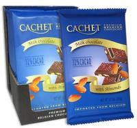 Шоколад Cachet milk chocolate with Almonds 32% cacao 300г