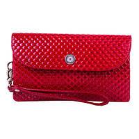 Женская кожаная сумка-клатч Karya 1121-122 красного цвета Турция