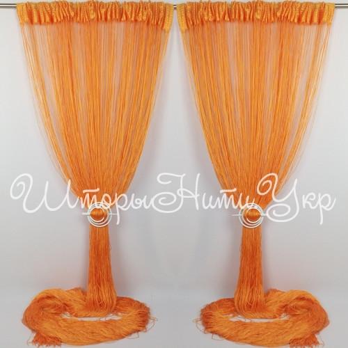 Шторы нити Однотонные №3 Оранжевый