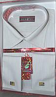 Светло-серая классическая мужская рубашка под запонку BENDU (размеры 38,39,40,42,45)