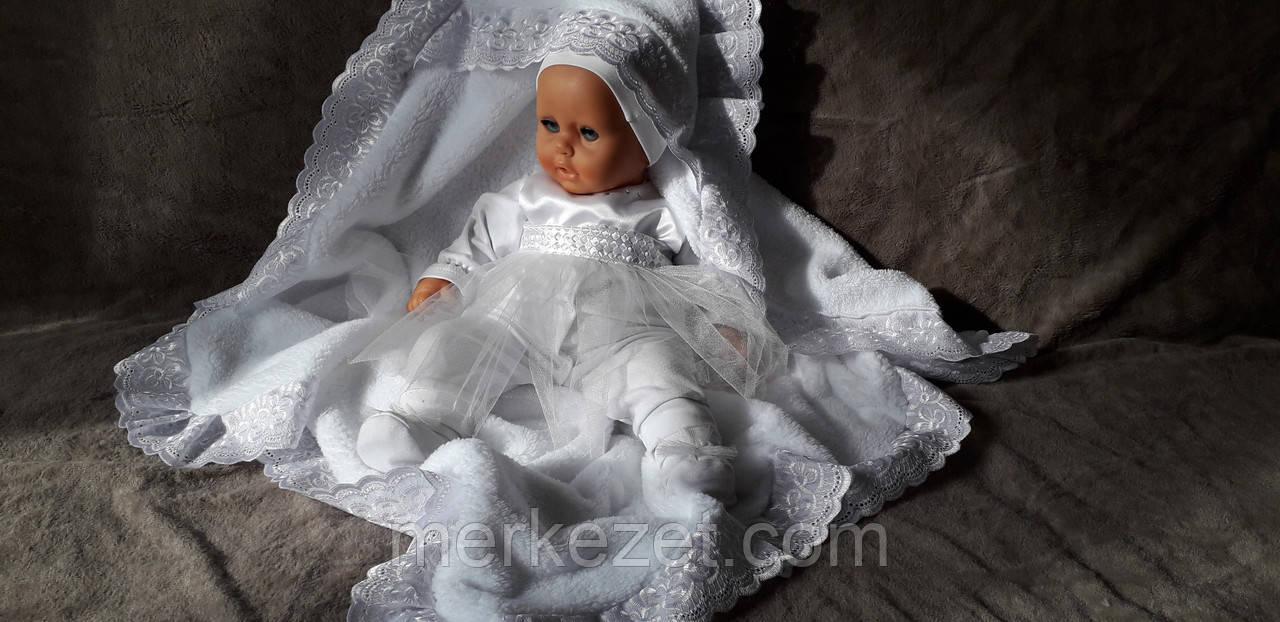 Крижмо с кружевами «Святой день». Крещение ребенка - крыжма. Крижмо