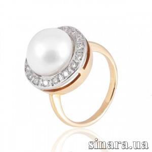 Золотое кольцо с жемчугом 6178