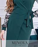 Женское платье на запах  с шифоновыми рукавами Креп костюмка Размер 42 44 46 , фото 6