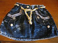 Детская летняя  джинсовая юбка для девочки 5-8  лет Турция