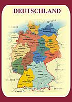 """Стенд """"Карта Германии"""" для кабинета немецкого языка"""