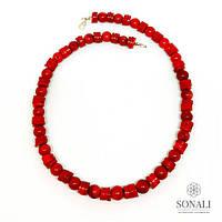 Бусы из натурального красного коралла