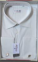 Мужская светло-бежевая рубашка под запонку FERRERO GIZZI  (размер 40,41,42,43)