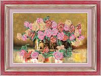 """Схема для вышивки бисером на габардине """"Феерия роз"""""""