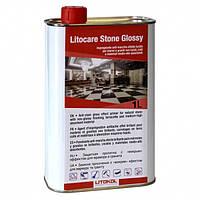 """LITOCARE STONE GLOSSY 1 литр- защитная пропитка для мрамора и гранита,  с """"мокрым"""" эффектом"""