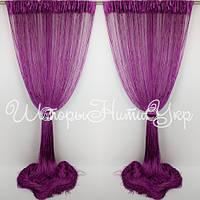 Шторы нити Фиолетовые №205 Однотонные, фото 1