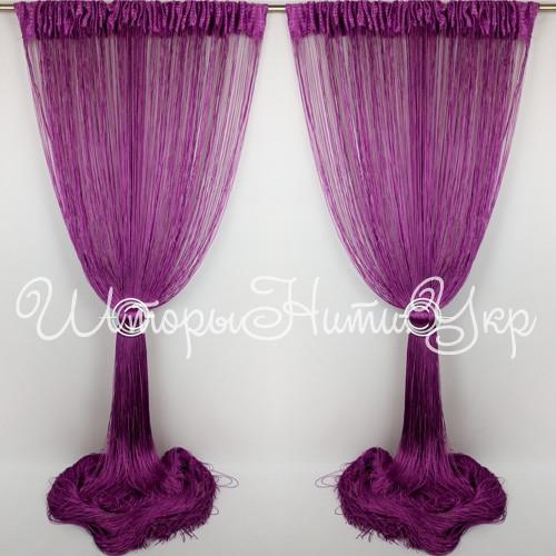 Шторы нити Однотонные №205 Фиолетовый, фото 1