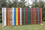 Односторонняя зашивка.Забор штакетный металлический. В Херсоне.