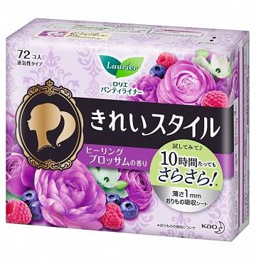 """Щоденні гігієнічні прокладки з ароматом квітів KAO """"Laurier"""" Beautiful Style 72 шт (306234)"""