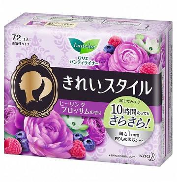 """Щоденні гігієнічні прокладки з ароматом квітів KAO """"Laurier"""" Beautiful Style 72 шт (306234), фото 2"""