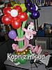 Розовая пантера с букетом из шаров