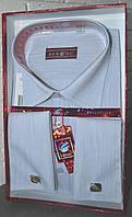 Светло-голубая классическая мужская рубашка под запонку BENDU (размеры 38,39,40,41,42,43,44,45)
