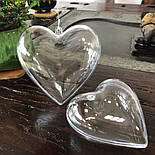 Сердечко прозрачное для декора, фото 3