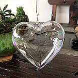 Сердечко прозрачное для декора, фото 4