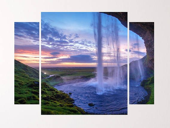 """Модульная картина """"Райский водоспад"""", фото 2"""