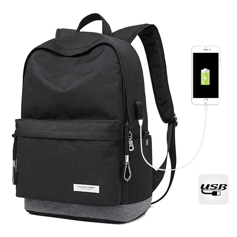 Легкий городской рюкзак Kaka 2199, с USB портом, 22л