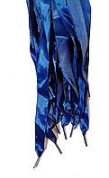 Шнурки плоские атласные Синие 15мм 100см