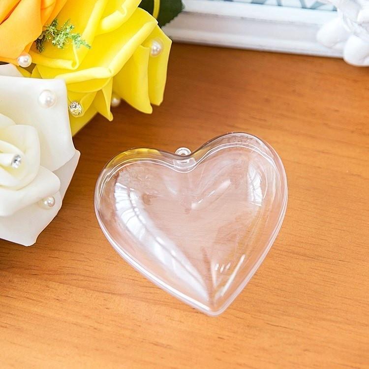 Сердечко прозрачное для декора