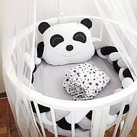 Комплект в круглую кроватку Защита в детскую кроватку Коса бортик