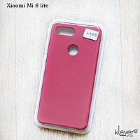Soft-touch чехол HQ Silicone Cover жидкий силикон для Xiaomi Mi 8 Lite (dark rose) (микрофибра внутри), фото 1