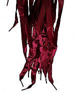 Шнурки плоскі атласні Бордо 15мм 100см