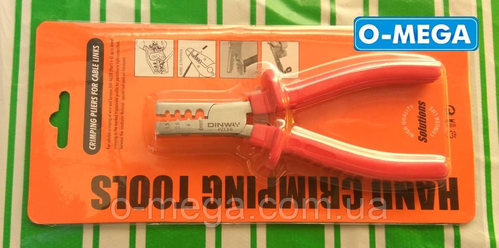 Кліщі для обтиску втулкових (трубчастих) наконечників (НШВІ) PZ-2 (1.5-6 мм2)